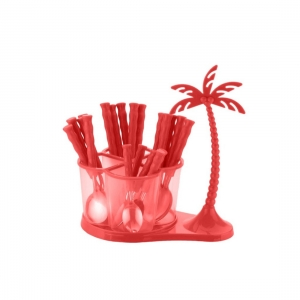 Generic Dining/Cutlery Set with Coconut Tree Design stand