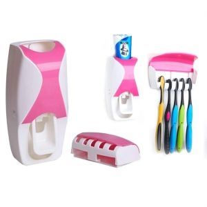 Generic Automatic Toothpaste Dispenser & Tooth Brush Holder with Tooth Brush