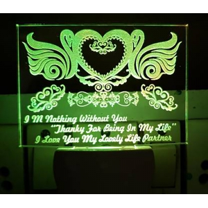 Generic Multicolor I Am Nothing Without You Night Lamp (Screwless)