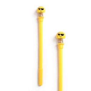 Generic Cute Spring Shaking HeadDoll Smiley Pen-Assorted