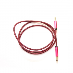 Generic Brand CH-41 Amac Metal 1 Meter Aux Cable-Red