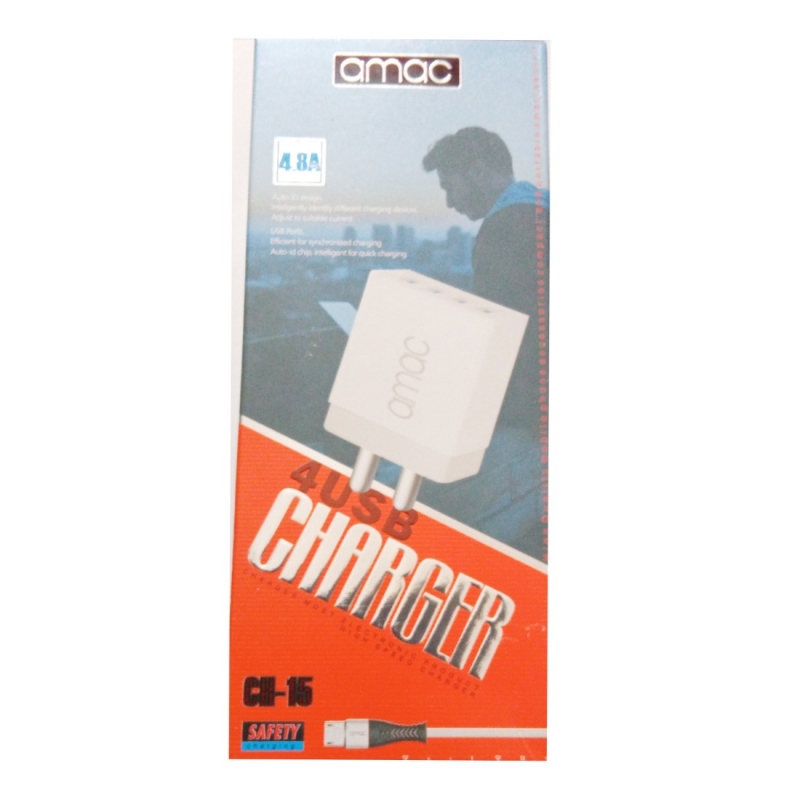 Generic Brand Amac Charger CH-15 4.8 A 4USB-Assorted