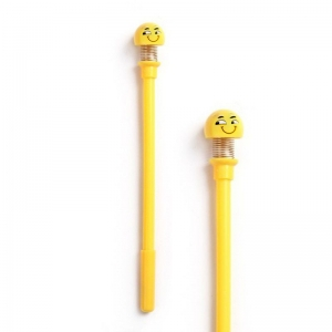Generic Cute Spring Shaking Head Doll Smiley Pen -Assorted