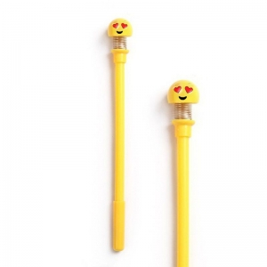Generic Cute SpringShaking Head Doll Smiley Pen-Assorted