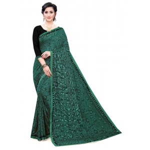 Generic Women's Soft Knitted Saree (Rama,5-6Mtrs)
