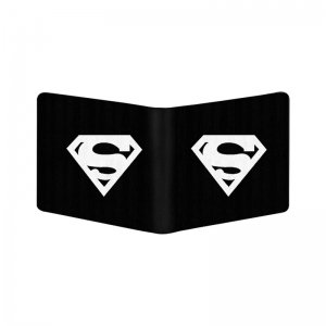 Generic Superhero  Design Black Canvas, Artificial Leather Wallet