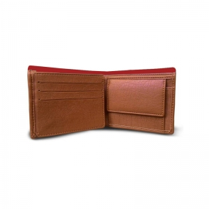 Generic Superman Design Red Canvas, Artificial Leather Wallet