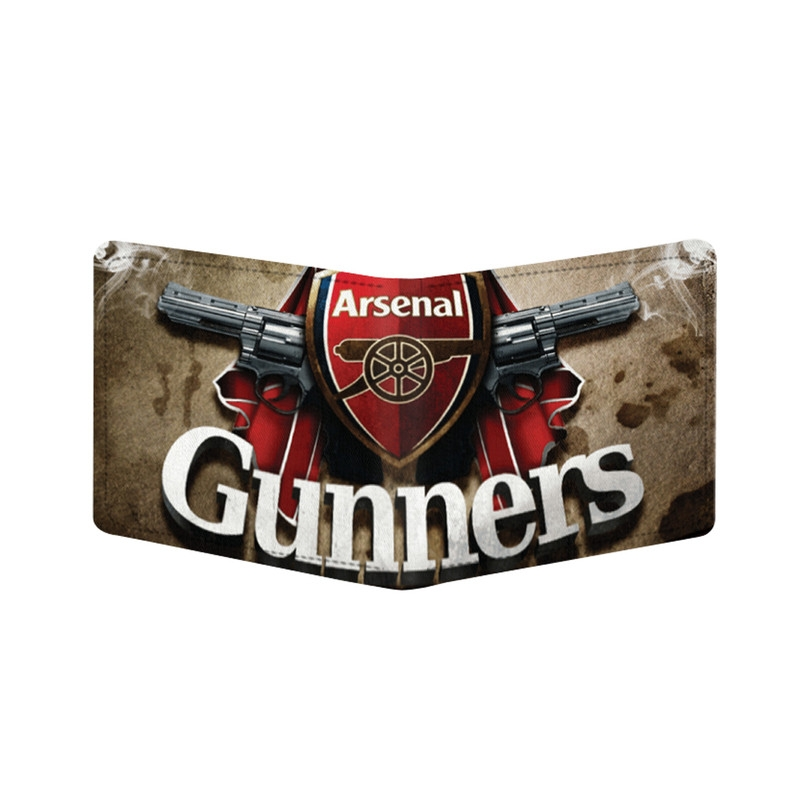 Generic Arsenal Gunners Design Beige Canvas, Artificial Leather Wallet