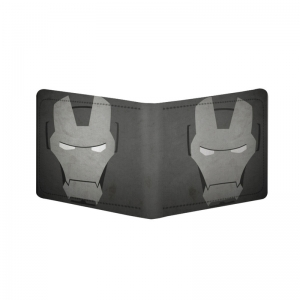 Generic Iron Man Design Greay Canvas, Artificial Leather Wallet