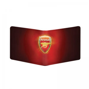 Generic Arsenal Design Red Canvas, Artificial Leather Wallet