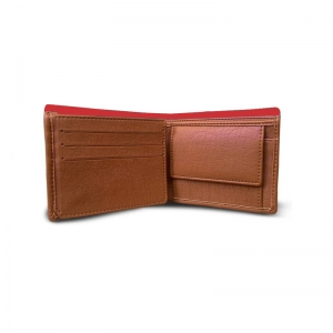 Generic Superhero  Design Red Canvas, Artificial Leather Wallet