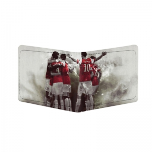 Generic Football Team Design White Canvas, Artificial Leather Wallet