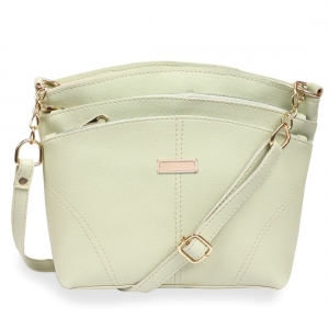 Generic Women's Faux Synthetic Leather Satchel Bag (Sea Green)