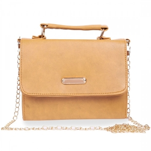 Generic Women's Faux Synthetic Leather Sling Bag (Camel)