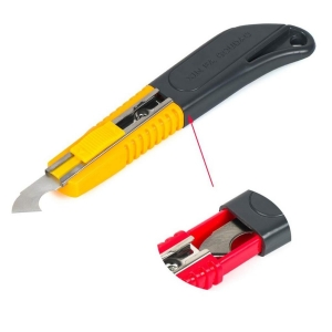 Generic Pack of 2_Multi-Use Plastic Cutter with Plastic Cutting Blade and Precision Knife Blade (Color: Assorted)