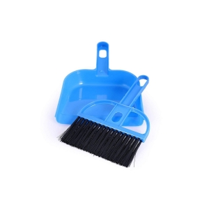 Generic Pack of 2_Mini Dustpan/Supadi with Brush for Home Cleaning (Color: Assorted)