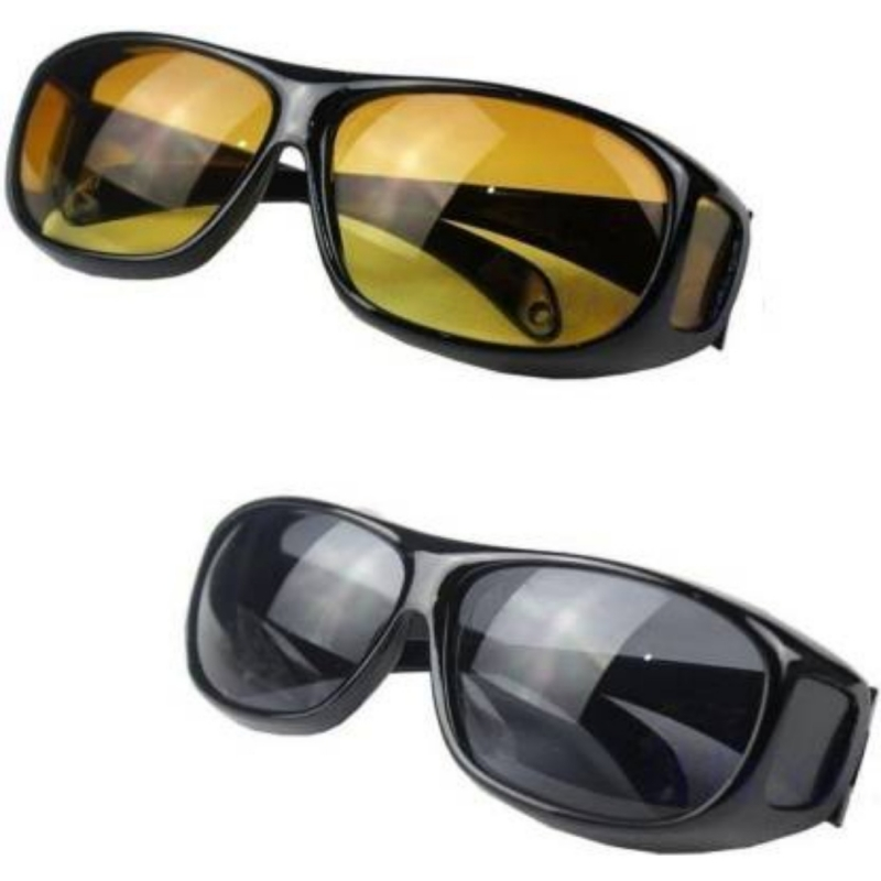 Generic HD Vision Day and Night Sunglasses Driving Glasses (Color: Assorted)