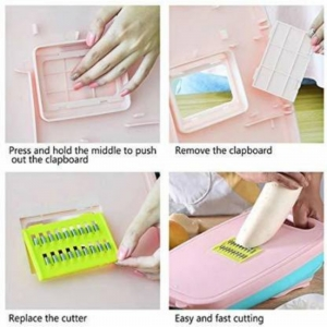 Generic Cutting Board 9 in 1 Multifunctional and Collapsible Chopping Board with Washing Drain Basket  (Color: Assorted)
