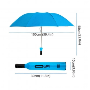 Generic Bottle Umbrella Double Layer Folding Portable with Bottle Cover (Color: Assorted)