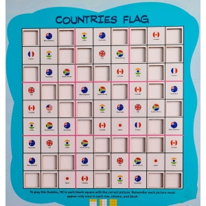Countries Flag (10X10 Inches)