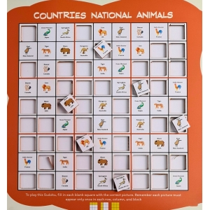 Countries National Animal (10X10 Inches)