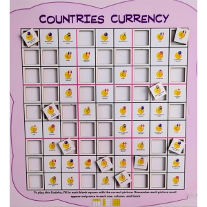 Countries Currency (10X10 Inches)