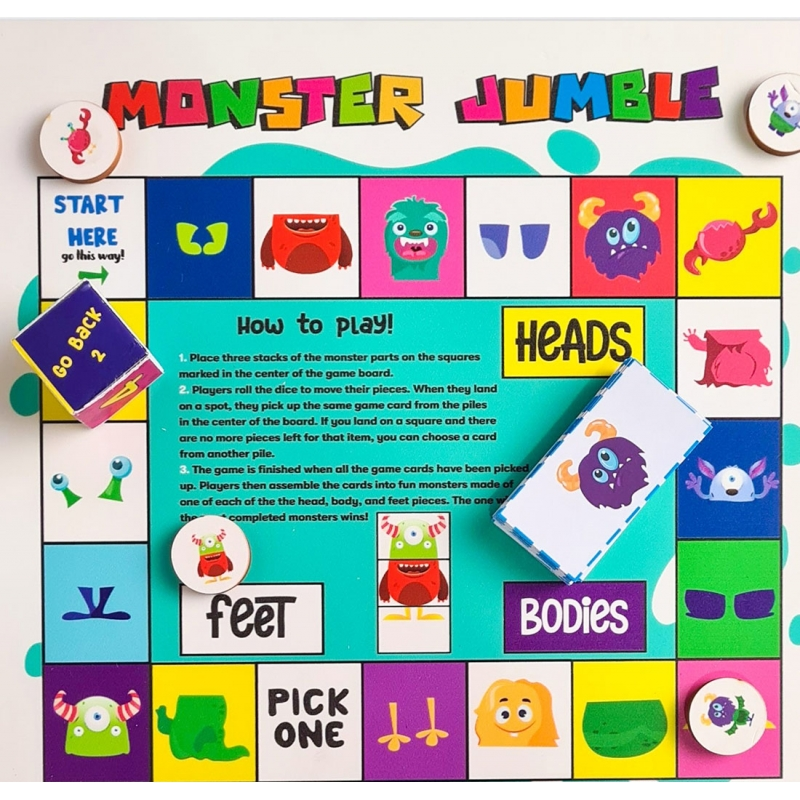Monster Jumble (10X10 Inches)