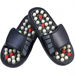 Generic Spring Acupressure And Magnetic Therapy Accu Paduka Slippers For Full Body Blood Circulation Natural Leg Foot Massager Slippers For Men And Women