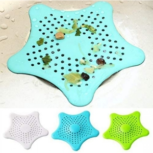 Generic Pack Of 3_Star Shaped Sink Filter Bathroom Hair Catcher Drain Strainers For Basin