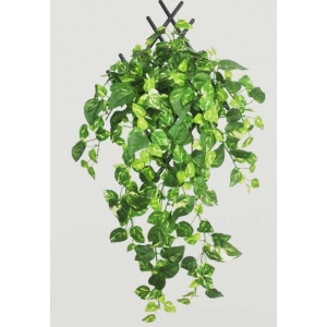 Generic Pack Of 5 Silk Polyester Artificial Money Plant Leaf Vine Hanging Garland  Foliage Flowers Leaf Plants For Wall Decoration (Color: Green,Length: 15 Feet)