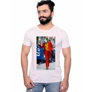 Generic Unisex Half Sleeves Joker Tshirts (Color:White, Material:Polyester)