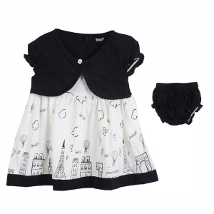 Generic Cotton Kidswear Half Sleeve Frock With Bottom Set(Material: Cotton,Color:Black)