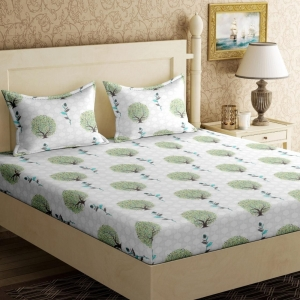 Generic Cotton Double Bed Sheet King Size 228X254Cm with 2 Pillow Covers (Color: Multi Color, Material: Cotton)