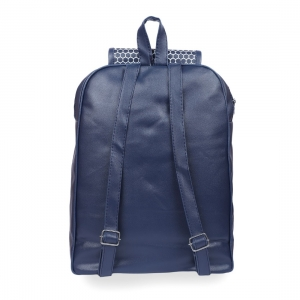 Generic Women's Faux Leather Backpack Bag (Blue)