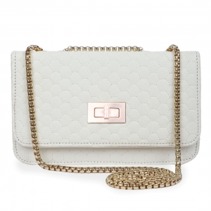 Generic Women's Faux Leather Sling Bag (Cream)