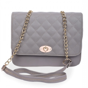 Generic Women's Faux Leather Sling Bag (Grey)
