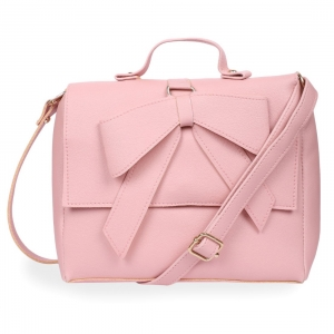 Generic Women's Faux Leather Sling Bag (Pink)