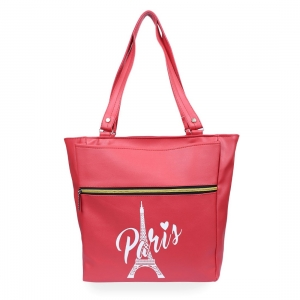 Generic Women's Faux Leather Tote Bag (Red)