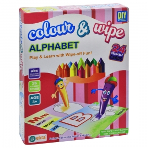 Alphabet Color, Wipe Paint Craft For Kids (Color: Assorted)