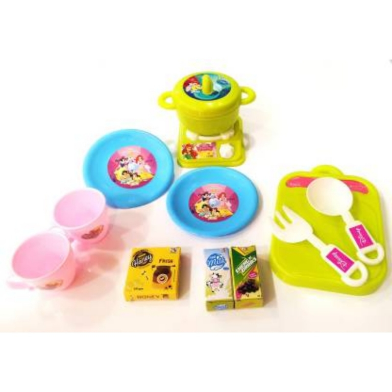12 Pcs_Set Of Fun For Play Kitchen Set (Color: Assorted)