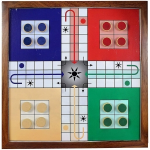 Ludo, Snacks And Ladders Classic Board Game Set For Children (Color: Assorted)