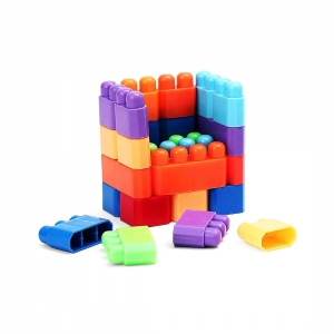 45 Pcs_Set Of Multi Color My First Builder Blocks (Color: Assorted)