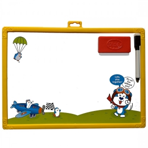 Write And Wipe Writing Board With Numbers And Shape (Color: Assorted)