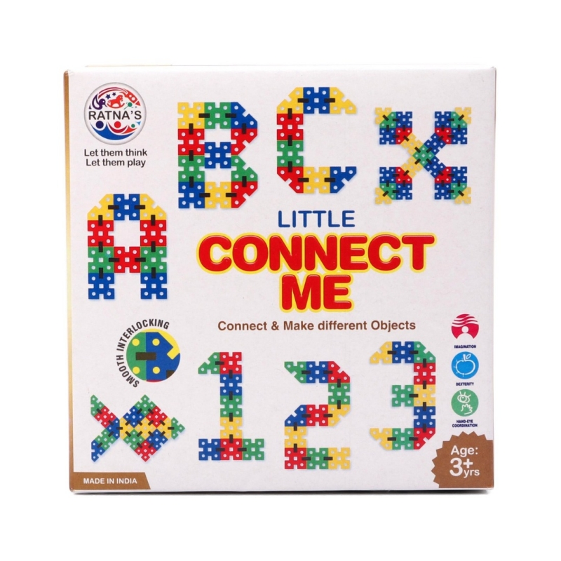 100 Pcs_Set Of Little Connect Me Interlocking Game (Color: Assorted)