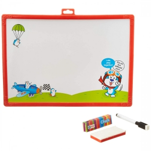2 In 1 Write And Wipe Writing Board (Color: Assorted)