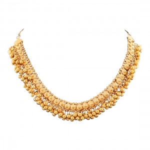 Generic Golden Ghungroo Choker Necklace Color: Gold)