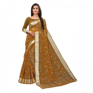 Generic Women's Georgette Saree With Blouse (Musterd, 5-6 Mtrs)